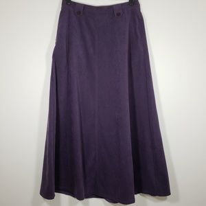 CHRISTOPHER & BANKS purple velour maxi skirt *Sz 8